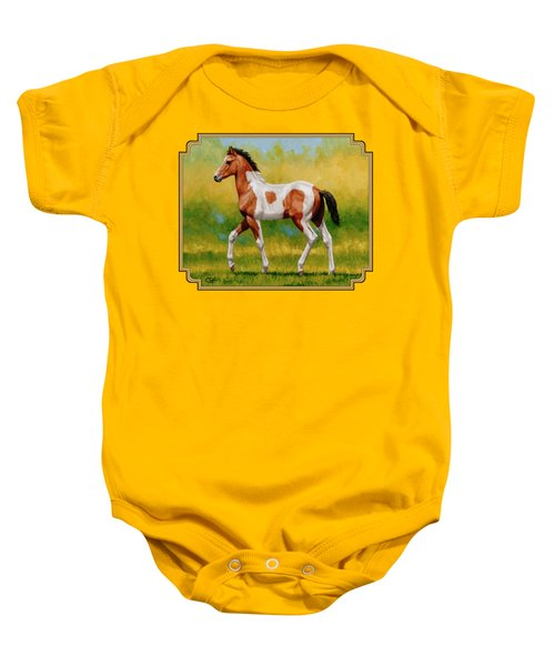 Bay Pinto Foal Baby Onesie