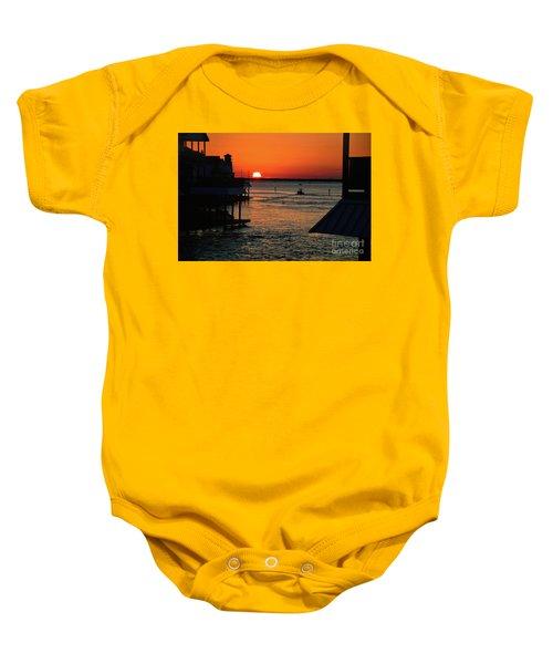 Bayou Vista Sunset Baby Onesie