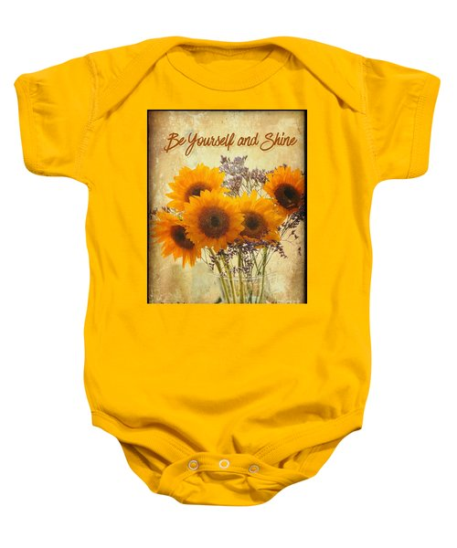 Be Yourself And Shine Baby Onesie
