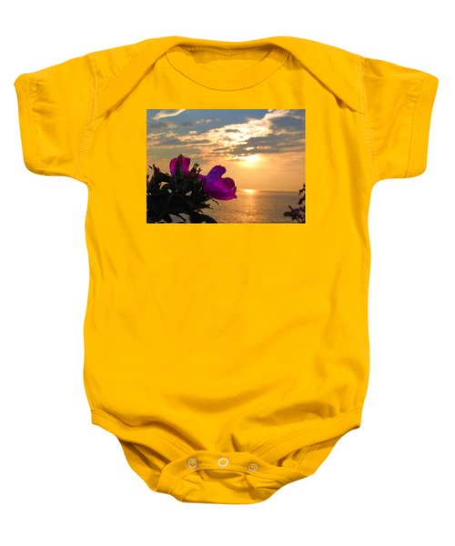 Beach Roses Baby Onesie