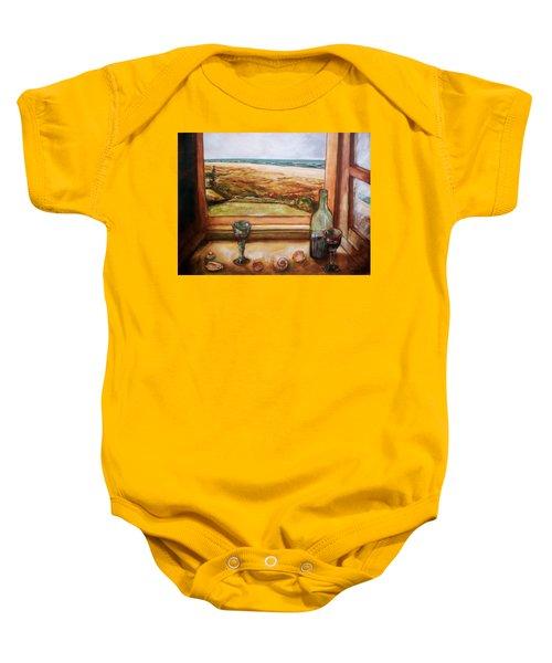 Beach Window Baby Onesie