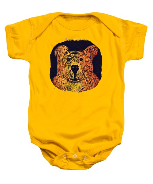 Bear With Me Baby Onesie