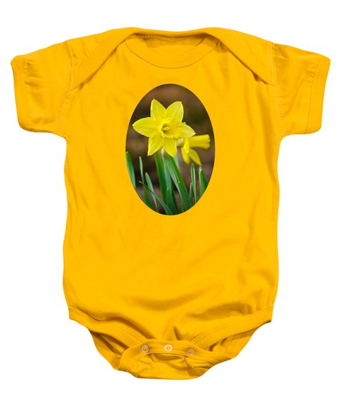 Beautiful Daffodil Flower Baby Onesie by Christina Rollo
