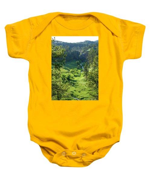 Beaver Creek In The Spring Baby Onesie