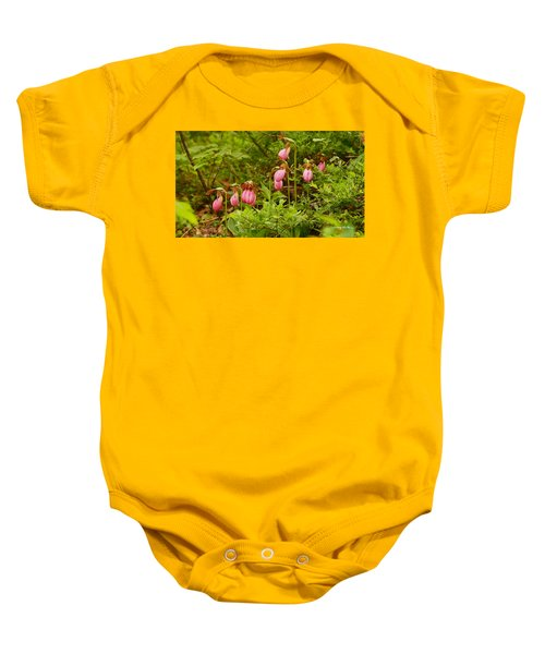 Bed Of Lady's Slippers Baby Onesie