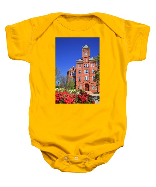 Biddle Hall In The Spring Baby Onesie
