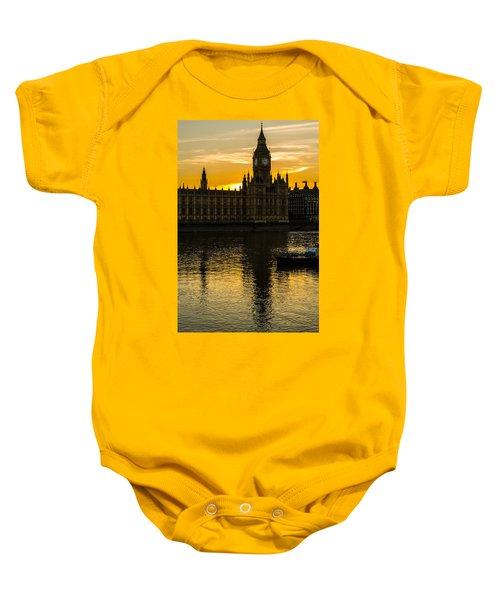 Big Ben Tower Golden Hour In London Baby Onesie