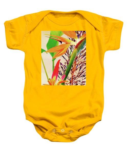 Birds Bromeliads Halyconia Baby Onesie
