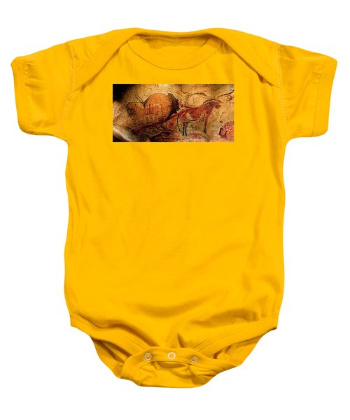 Bisons Horses And Other Animals Closer Baby Onesie