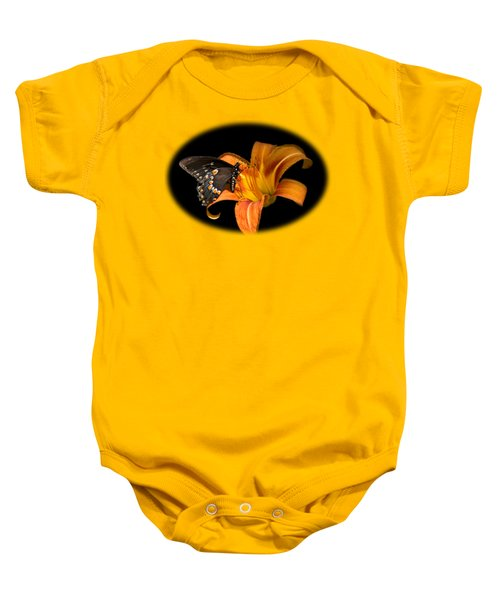 Black Beauty Butterfly Baby Onesie by Christina Rollo