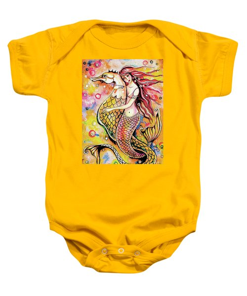 Black Sea Mermaid Baby Onesie