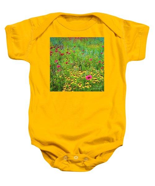 Blooming Wildflowers Baby Onesie