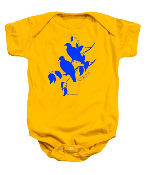 Blue Doves Baby Onesie by The one eyed Raven