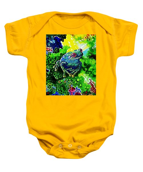 Blue  Frog Baby Onesie