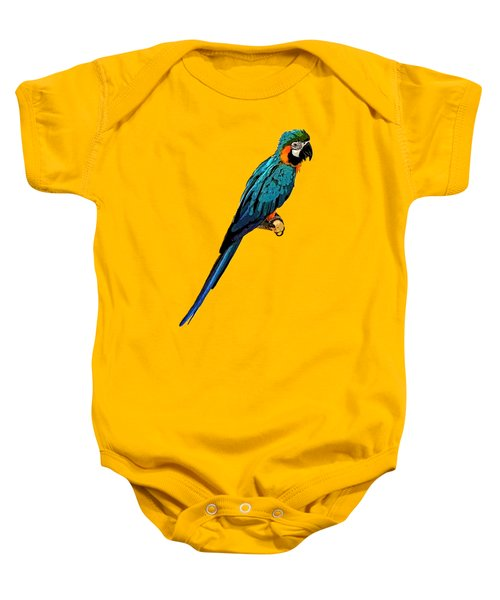 Blue Parrot Art Baby Onesie
