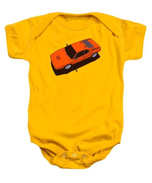 Bmw M1 E26 Red Orange Baby Onesie