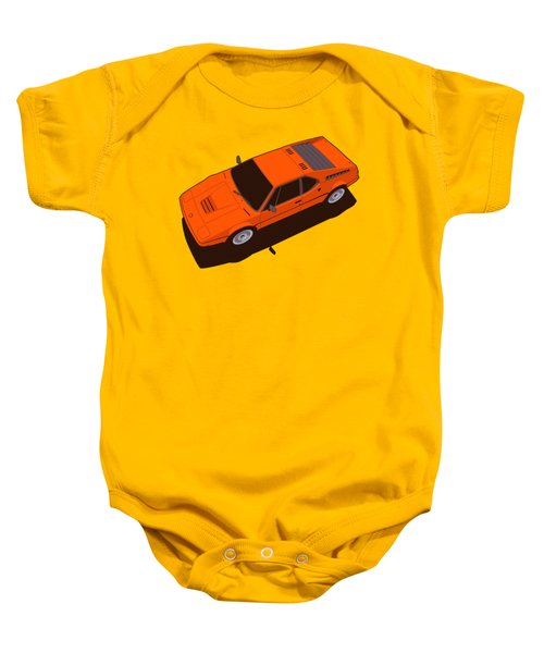 Bmw M1 E26 Red Orange Baby Onesie