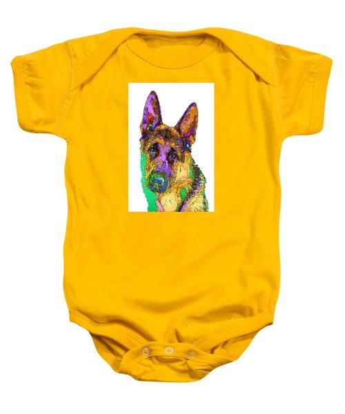 Bogart The Shepherd. Pet Series Baby Onesie