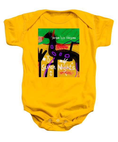 Borges Seven Nights Poster  Baby Onesie