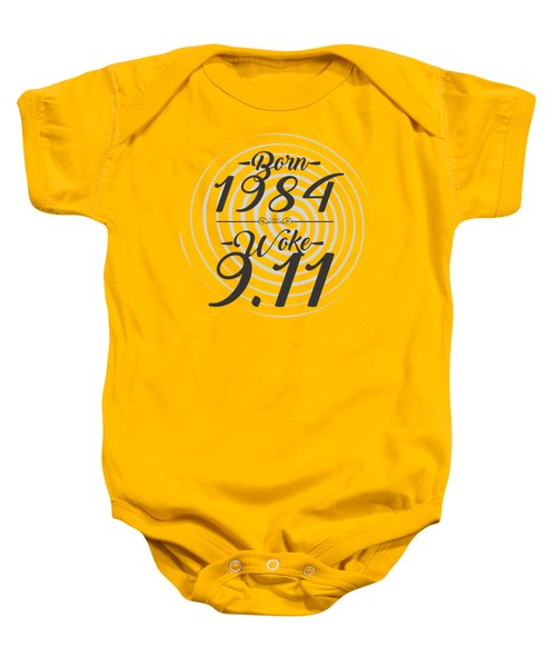 Baby Onesie featuring the digital art Born Into 1984 - Woke 9.11 by Jorgo Photography - Wall Art Gallery