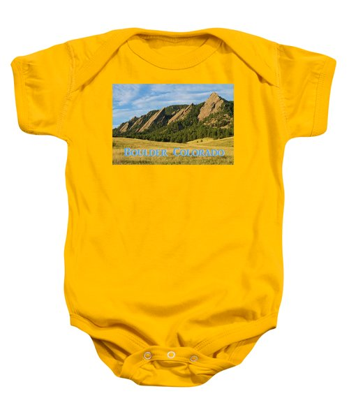 Baby Onesie featuring the photograph Boulder Colorado Poster 1 by James BO Insogna