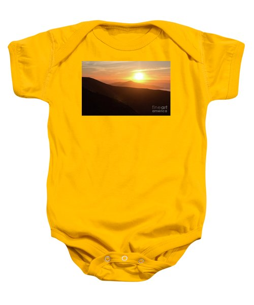 Bright Sun Rising Over The Mountains Baby Onesie