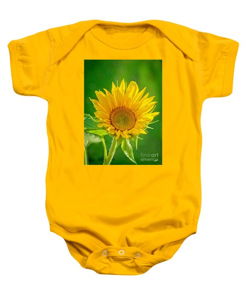 Bright Yellow Sunflower Baby Onesie