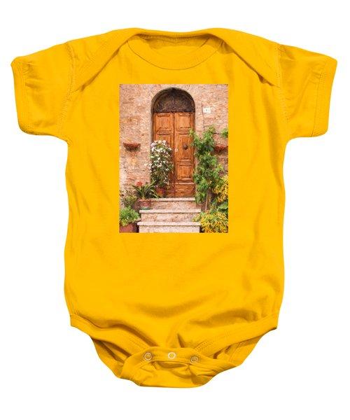 Brown Door Of Tuscany Baby Onesie