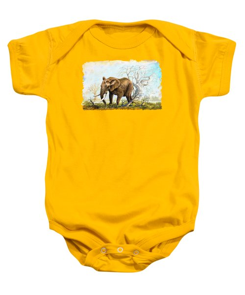 Browsing In The Bushes Baby Onesie