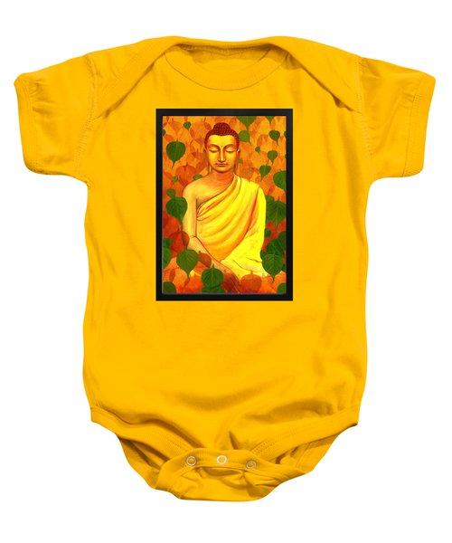 Buddha In Green Leaves Baby Onesie