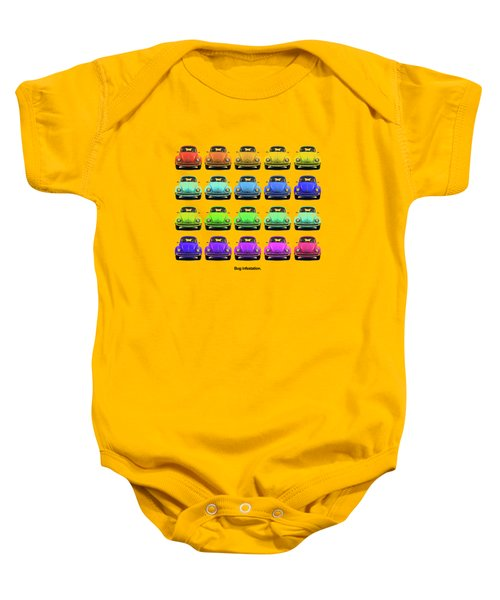 Bug Infestation. Baby Onesie by Mark Rogan