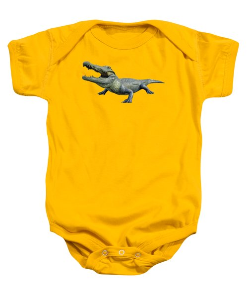Bull Gator Transparent For T Shirts Baby Onesie by D Hackett