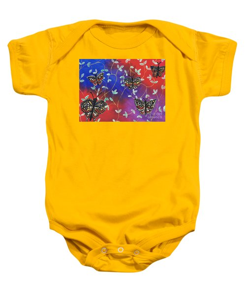Butterfly Family Tree Baby Onesie