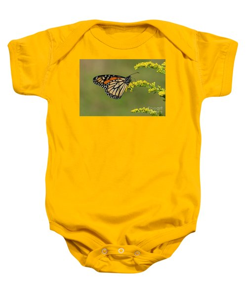 Butterfly On Flowers Baby Onesie