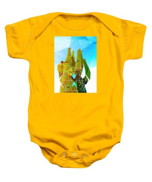Cacti Embrace Baby Onesie