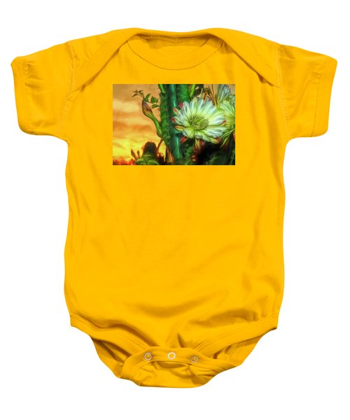 Cactus Flower At Sunrise Baby Onesie