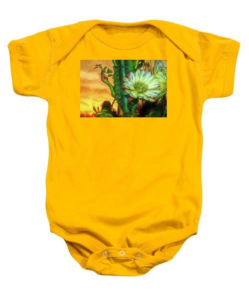 Cactus Flower At Sunrise Baby Onesie