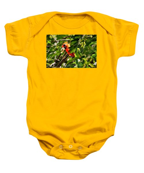 Cardinal In Tree Baby Onesie