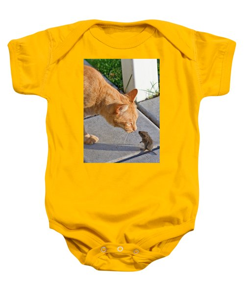 Cat And Mouse Baby Onesie