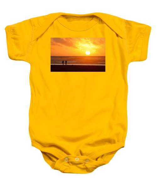 Catching A Setting Sun Baby Onesie