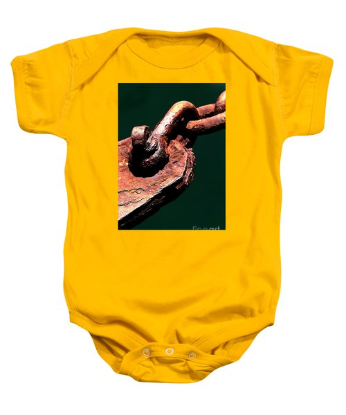 Baby Onesie featuring the photograph Chain Age II by Stephen Mitchell