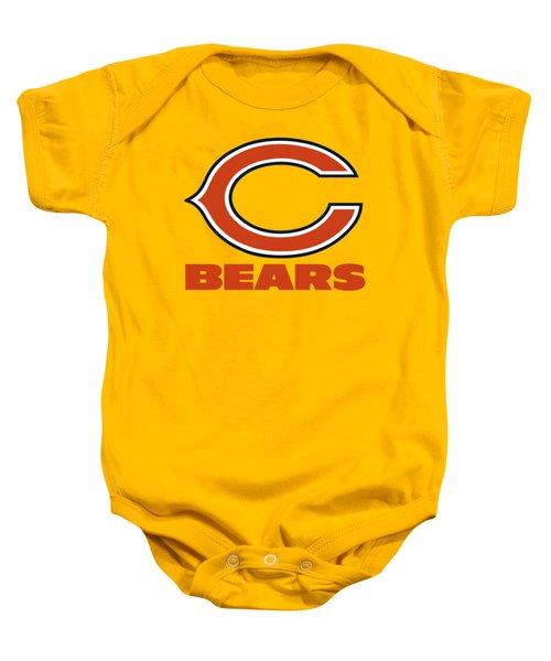 Chicago Bears On An Abraded Steel Texture Baby Onesie