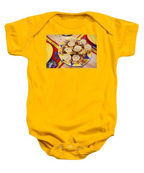 Chicken With Lemon Baby Onesie