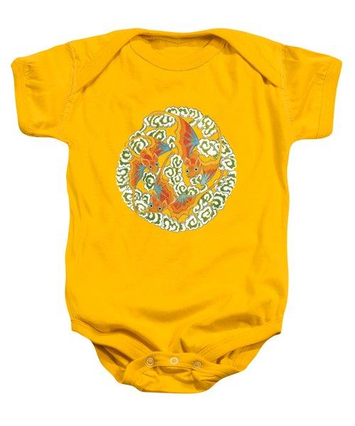 Chinese Bats Tee Shirt Design Baby Onesie