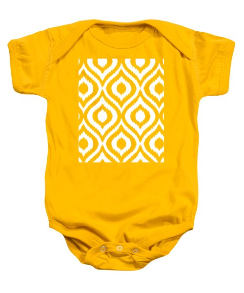 Circle And Oval Ikat In White T03-p0100 Baby Onesie