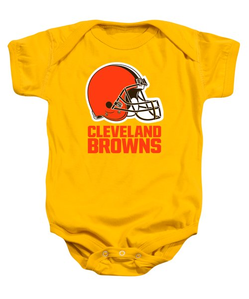 Cleveland Browns On An Abraded Steel Texture Baby Onesie