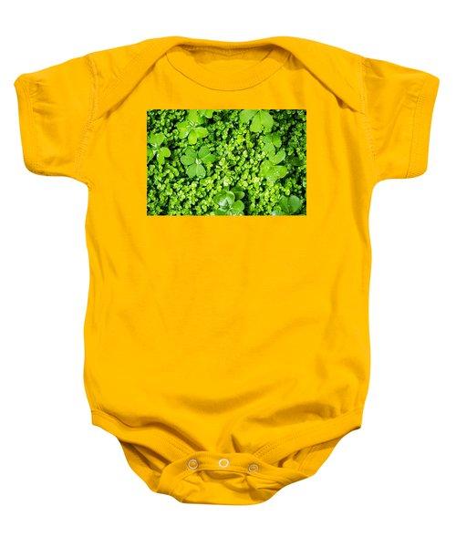 Lush Green Soothing Organic Sense Baby Onesie