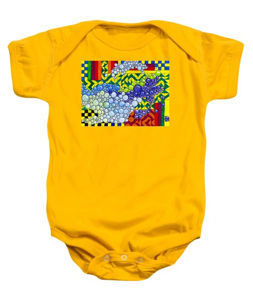Colorful Bubbles On Tiles Baby Onesie