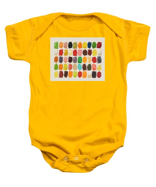 Colorful Crystal Abstract Baby Onesie