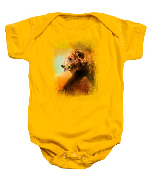 Colorful Expressions Grizzly Bear Baby Onesie by Jai Johnson